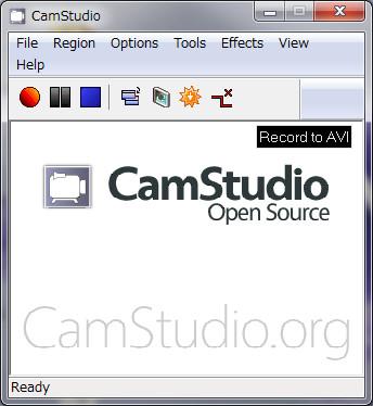 CamStudio初期画面