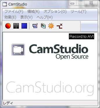 CamStudio日本語化初期画面