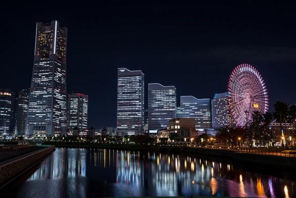 横浜かな、夜景